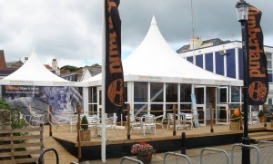 Timberland  ev Cowes week eq 10m x 10m & 5m x 5m Icon structures
