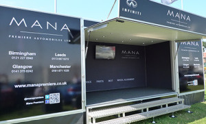 Mana Premiere exhibition & hospitality trailer