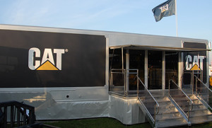 Finning CAT run our large exhibition trailer for its managed roadshow program.