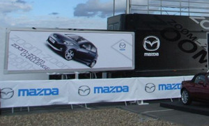 Mazda exhibition trailer