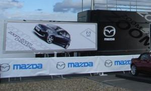 Mazda exhibition trailer