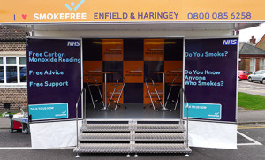 5m small exhibition trailer for hire
