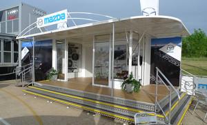 Mazda 7m exhibition trailer