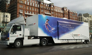 Managed logistics for exhibition trailers