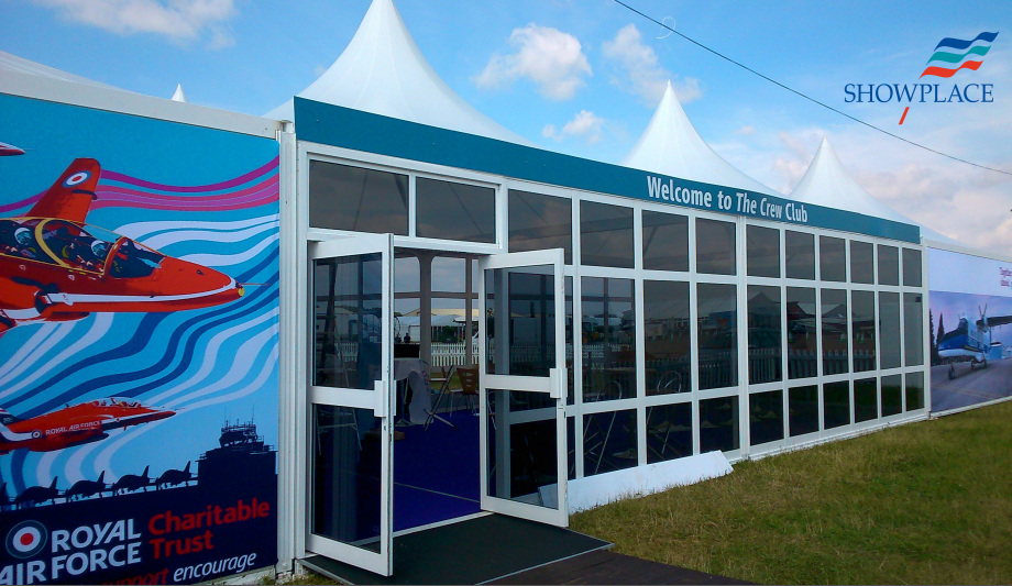 Club Crew Stand with graphics at Air Tattoo