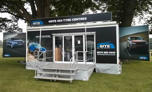 7m exhibition trailer for hire