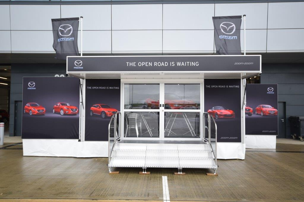 small 5.5m exhibition trailer for hire
