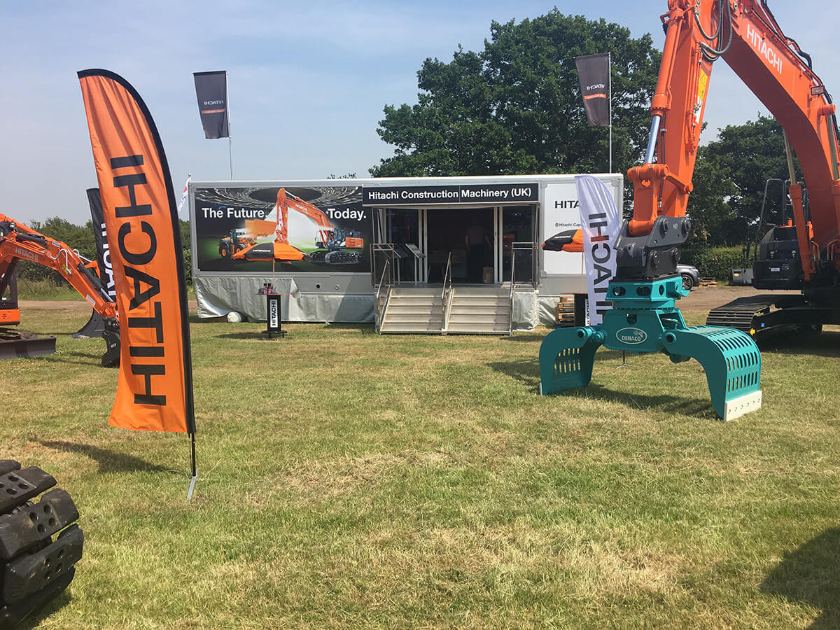 Trailer Hitachi @ Demo Exhibition 2017 - Exhibition Stands