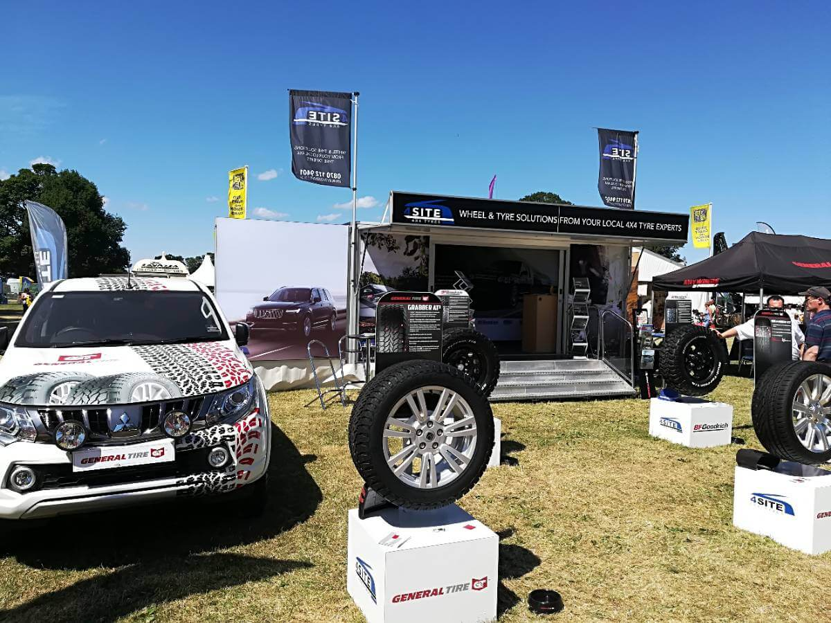 Trailer Southam Tyres @ Scottish Game Fair 2018 - Exhibition Stands