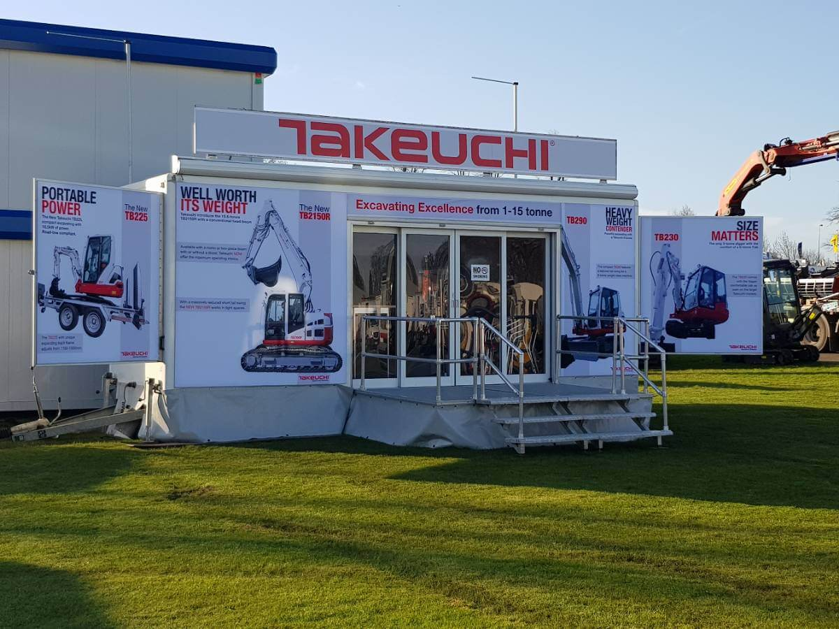 Trailer Takeuchi @ Scotplant 2018 - Exhibition Stands