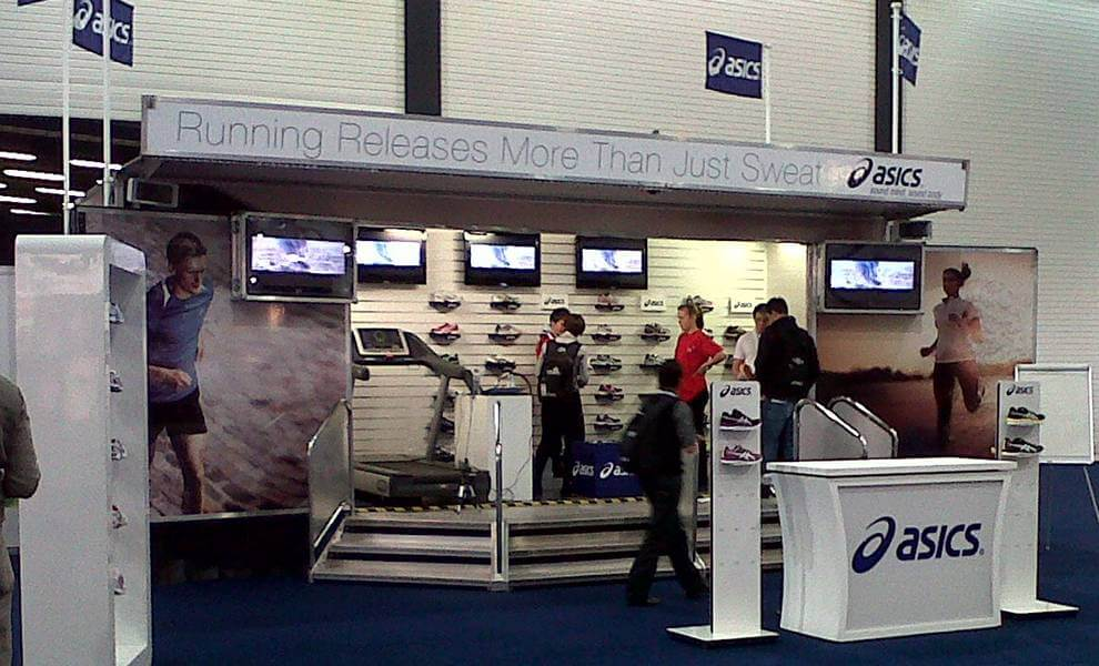 16 client asics Event London triathlon Excel London - What Makes a Good Exhibition Stand?