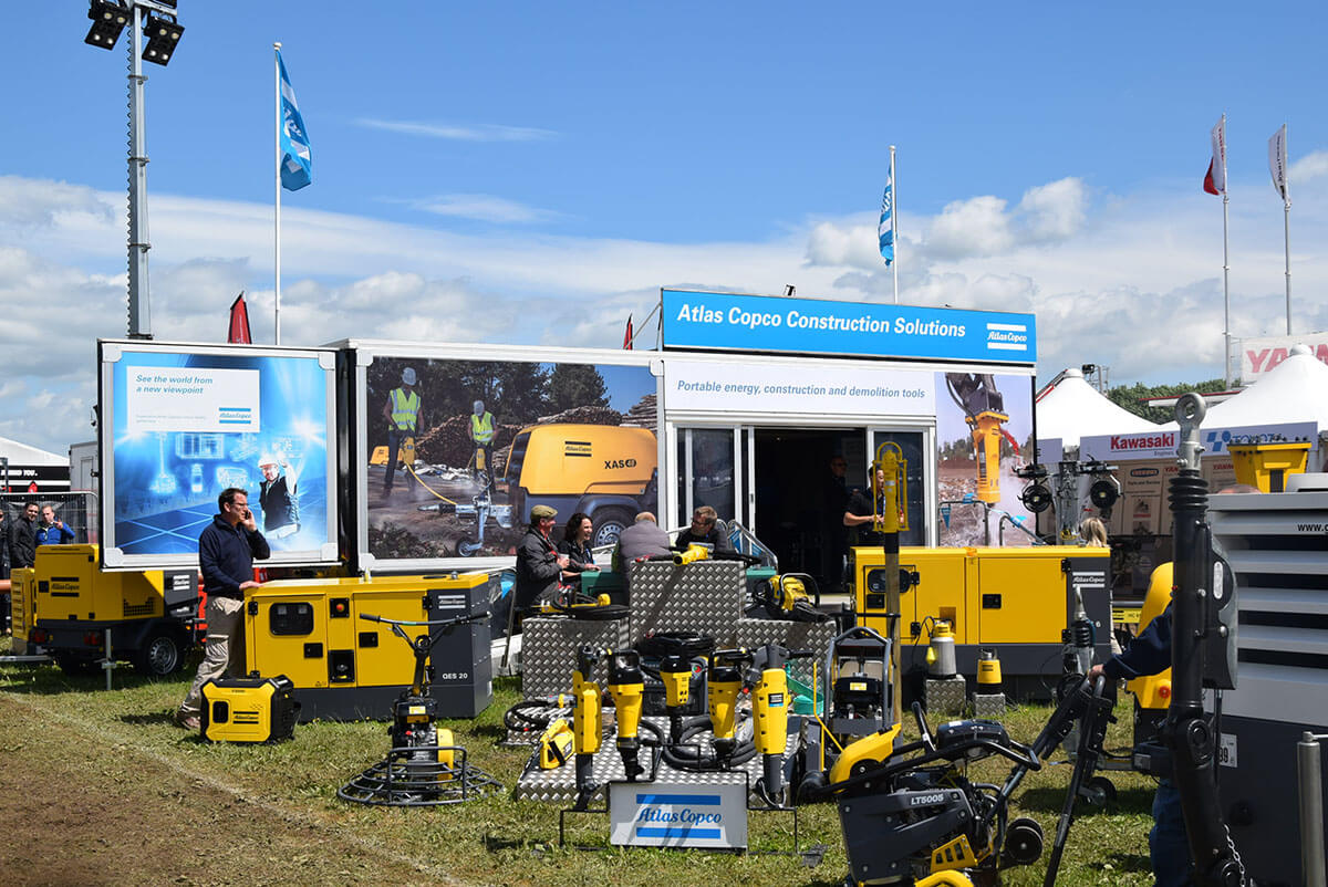 Atlas Copco @ Plantworx 2017 - Exhibition Stands