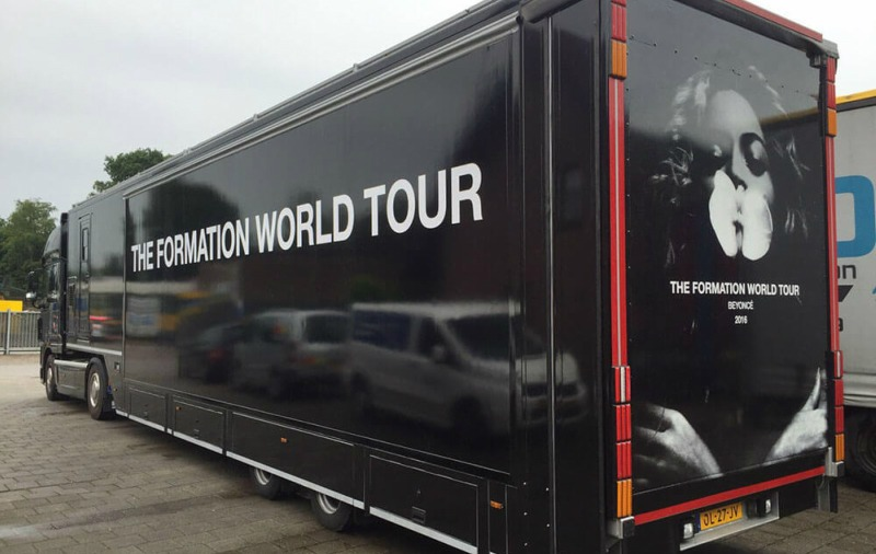 Roadshow Contracted With The Beyonce Merchandise Trailer