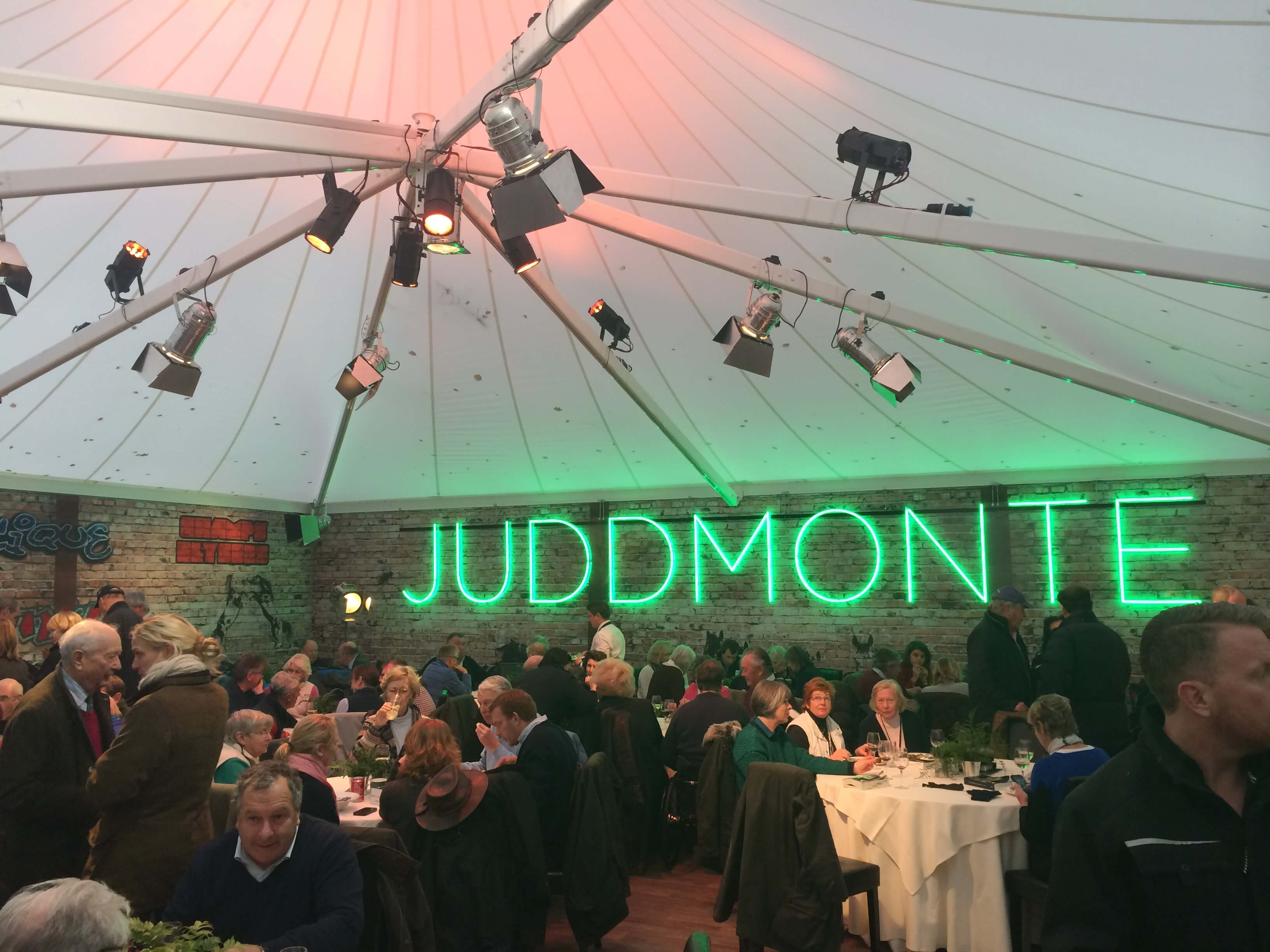 Great use of the structure wall in the Juddmonte structure - Temporary Event Structures – The Inside Story