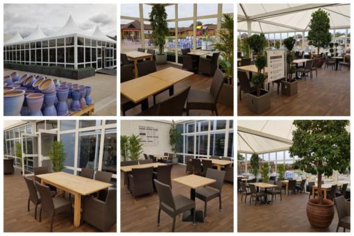 garden centre temporary structure extension