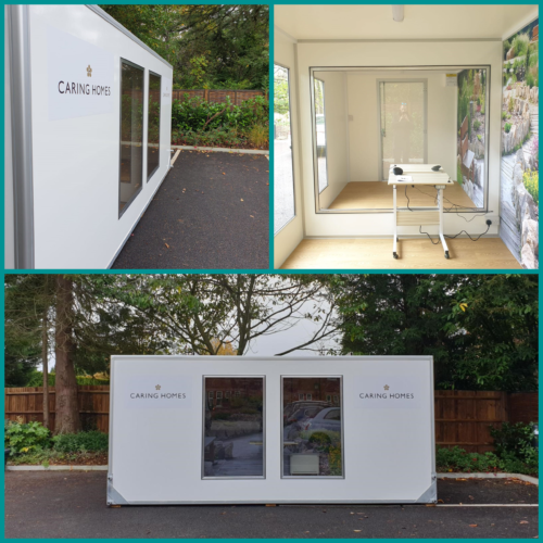 demountable care home visiting pod