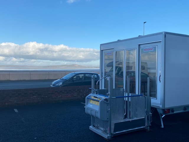 care home 3.6m trailer visiting pod