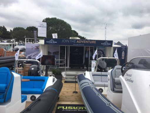 trailer at Southampton Boat Show